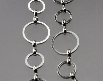 NEW New 5 ft. of Sterling Silver Plated Brass BIG circle Quick Links Chain - 12mm,8mm soldered link