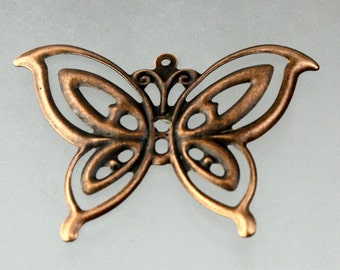 20 pcs of Antique Copper finished filigree Butterfly  41X30mm