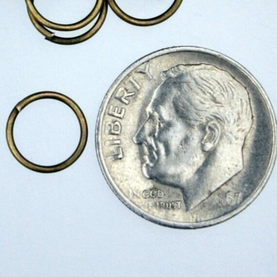 100 pcs antique brass 21 gauge 8mm open jumpring - 8mm 21g jump ring