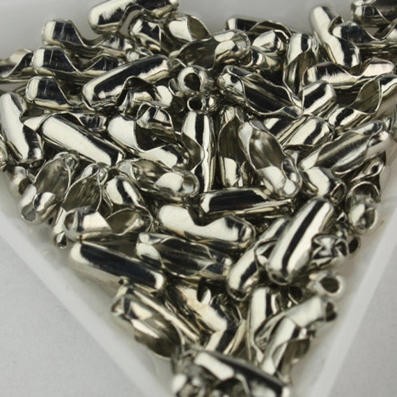 100pcs of Antique Silver Ball Chain Connectors Clasps - for 2.4mm ball chain - Insert Type