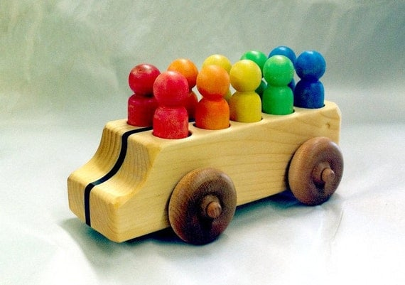 Natural Pine Rainbow Van with exotic wood stripe