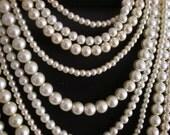 Coco Sophia -- Ivory Swarovski Pearl multi-strand necklace