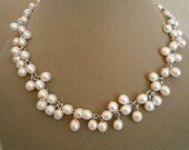 Pearl Wreath -- Cultured Freshwater Pearl Statement Necklace