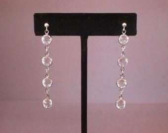 Etincelle -- Swarovski Crystal Drop Earrings