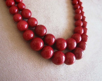 Bella Rouge -- Red Jade necklace