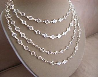 Shimmering Tide -- Multi-Use Swarovski Crystal Necklace or Belt
