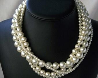 Opera Night -- Swarovski Crystal Pearl Necklace