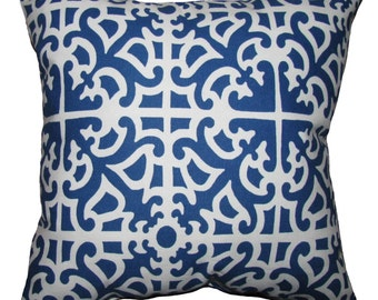 CLEARANCE -  Waverly Parterre Porcelain Outdoor Decorative Throw Pillow- Free Shipping