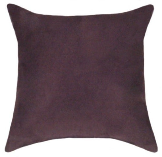 Items Similar To Suede Throw Pillow Plum Faux Suede