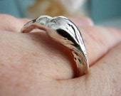 Sterling Silver Rose Bud Ring. Art Nouveau Ring. Unique Ring. Cocktail Ring. Right Hand Ring. Unique Ring. Silver Ring. Woodland Ring