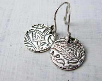 Delicate Sterling Silver Paisley Dangle Earring