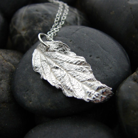 Simple Sterling Silver Butterfly Leaf Necklace