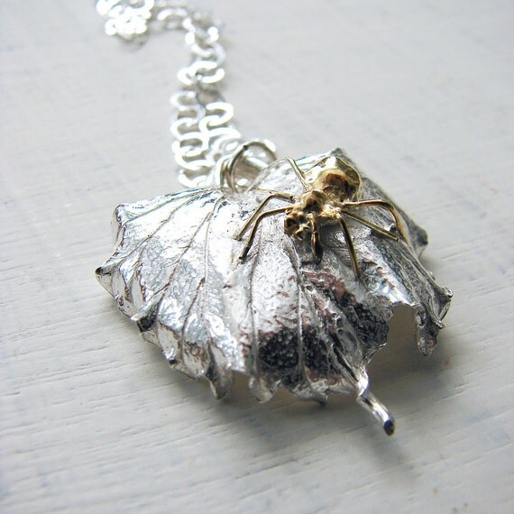 Leaf Spider Necklace
