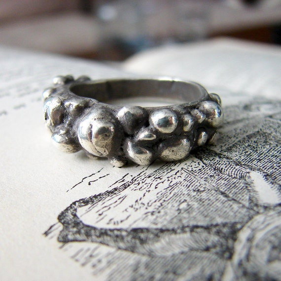 Sterling Silver Textured River Rock Ring