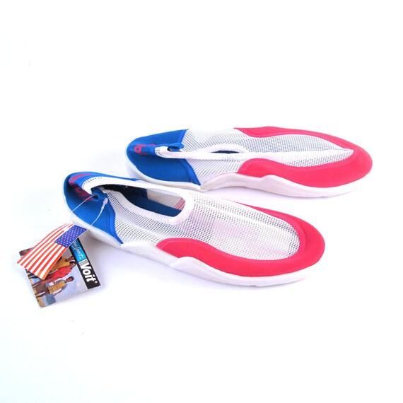 Aqua Sox Shoes Vintage 1980s Multicolor Summer Deadstock size 9
