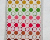 Colorful polka dot double-sided bookmark