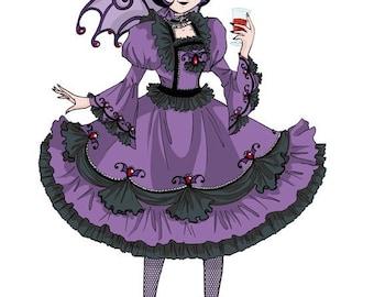 Violet Gothic Lolita