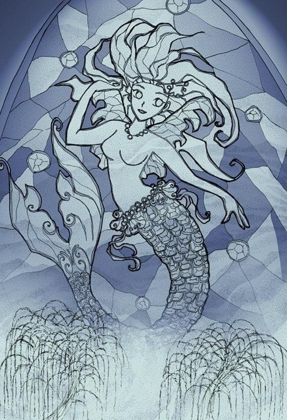 Autumn Night Mermaid