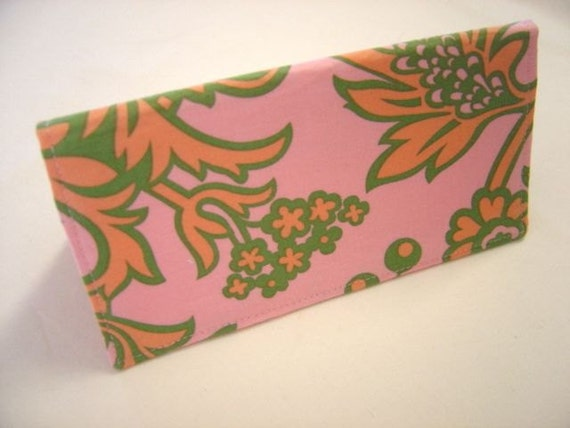 SALE  Checkbook Cover, Coupon Holder in Amy Butler Designer Fabric