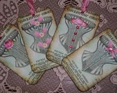 Corset Gift Tags, Bridesmaid Tags, Bachelorette Party Tags