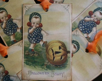Vintage Halloween Jollity Gift Tags