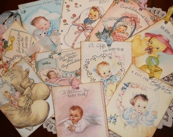 Huge Variety Lot of Baby Gift Tags For Boy Girl and New Baby