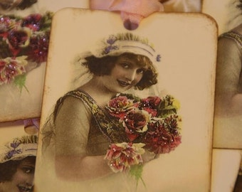 Victorian Bride Gift Tags  Wedding Favor Tags