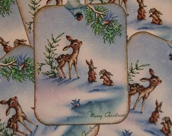 Baby Deer Christmas Gift Tags