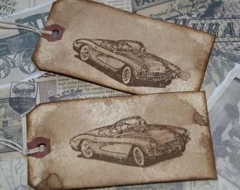 1957 Corvette Gift Tags