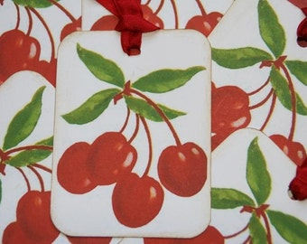 Fresh Picked Cherries Gift Tags