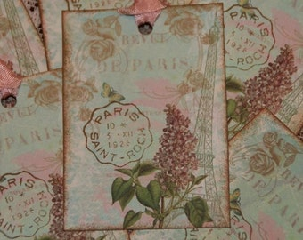 Lilac DE PARIS French Inspired Gift Hang Tags