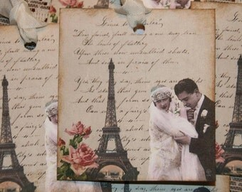 Paris Wedding Gift Tags