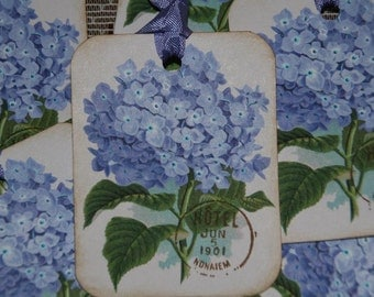 Lavender Periwinkle Hydrangea Gift Tags