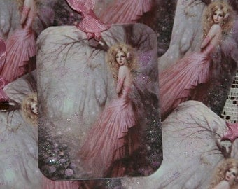 Pink Glitter Fantasy Fairy Gift Tags