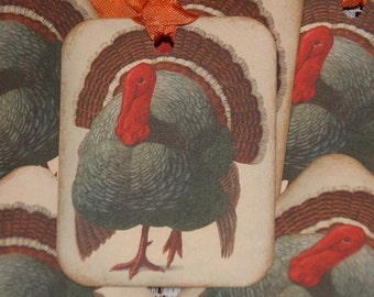 Vintage Thanksgiving Turkey Gift Hang Tags