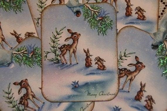 Baby Deer Christmas Gift Tags
