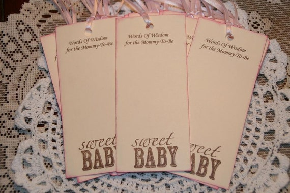 Baby Shower Wishes, Baby Wishes for Baby Girl,  Words of Wisdom for the Mommy To Be, Sweet Baby, Advice for New Mom, Qty 25