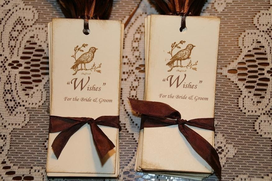 Rustic Wedding Gift Tags : 75 Wish Tree Rustic Wedding Gift Tags by GreenAcresCottage on Etsy