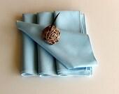 Vintage Napkins in Pale Blue - Set of Four