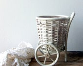 Vintage Wicker Cart