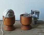 Vintage Wooden Pots-SALE