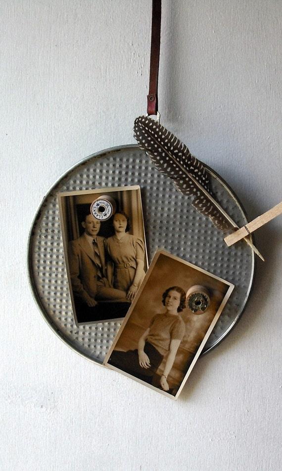 Vintage Repurposed Industrial Magnetic Memo Board
