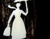 MARY POPPINS -Laser cut acrylic brooch