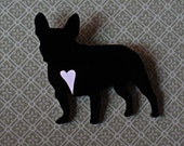 French Bulldog brooch-Laser cut acrylic jewelry