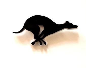 Running Greyhound -laser cut Acrylic brooch