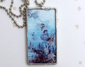 Soldered Collage Double Sided Glass Pendant - Fairy