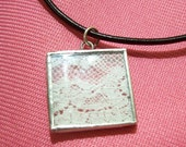Vintage Lace Glass Soldered Necklace