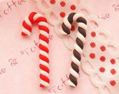 Clay Christmas Candy Cane - 6pcs