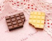 6pcs Wafer Chocolate Cabochons