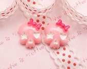Kawaii Cabochon Starry Hearty Cute Pink Skull Cabochon Set of 6pcs